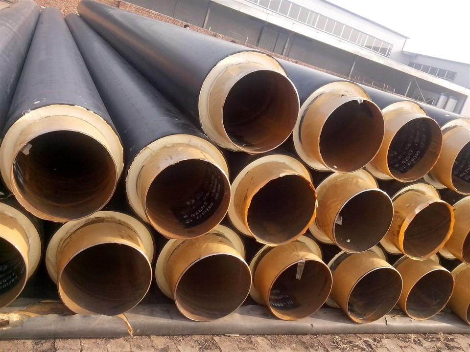 钢套钢保温管 聚乙烯发泡保温管生产加工,工地补口等