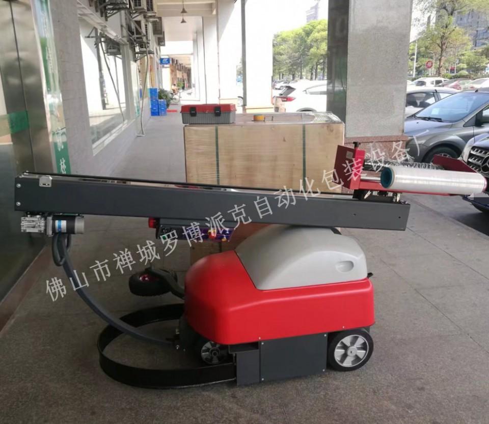 深圳全自动托盘缠绕机通化高速栈板捆包机东莞标准型转台式裹包机